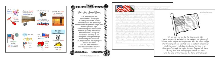 Star Spangled Banner Printables The Crafty Classroom
