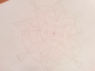 Drawing Lines Of Symmetry Worksheet Ks : How to draw a mandala
