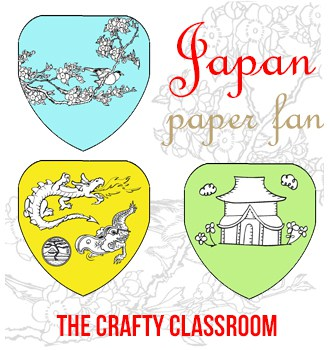 Japan Paper Fan Craft - The Crafty Classroom