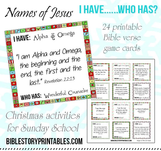 Sunday School Christmas Party Games: Printable Advent Game