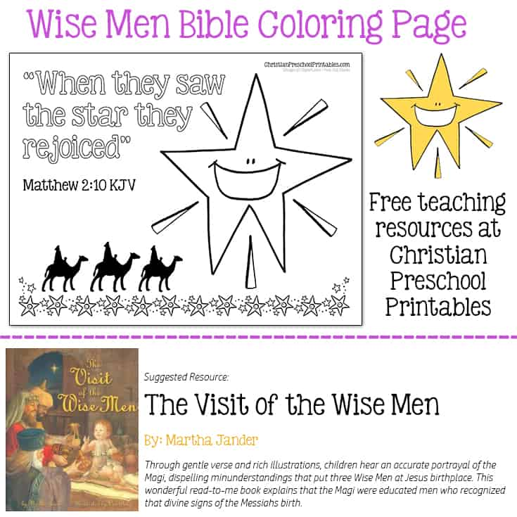 Wise Men Bible Coloring The Crafty