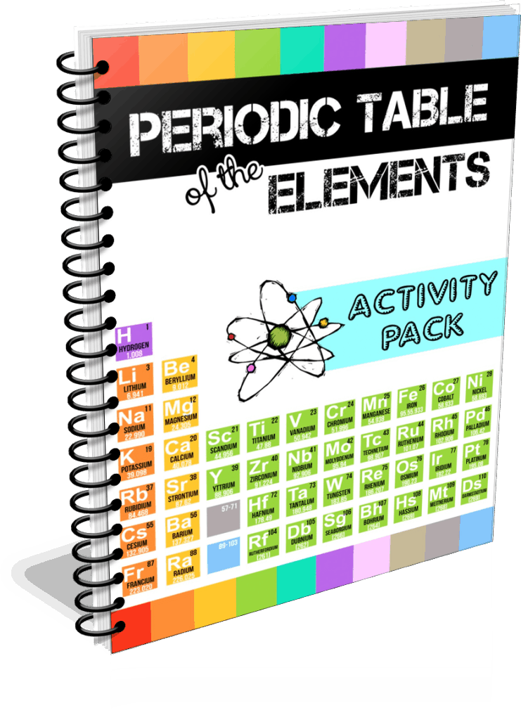 Periodic table printables the crafty classroom periodicebooklarge buynow periodic table of the elements activity pack urtaz Images