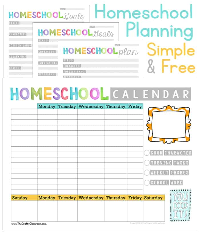 Adaptable image with regard to homeschool planner printable