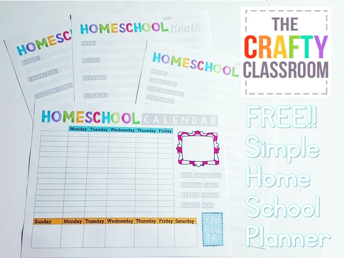 It is a photo of Magic Free Printable Homeschool Planner