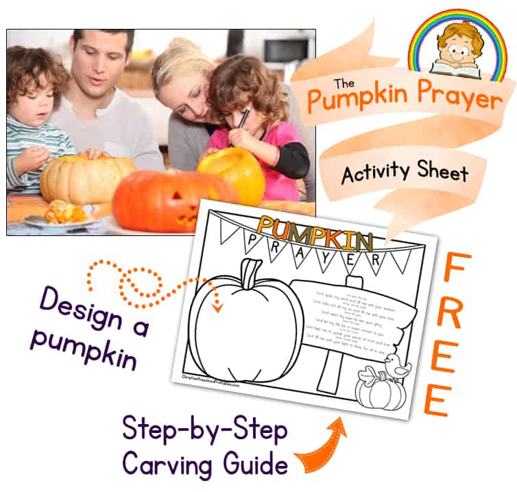 Pumpkin Prayer Coloring Page The Crafty Classroom - Pumpkin-prayer-coloring-page