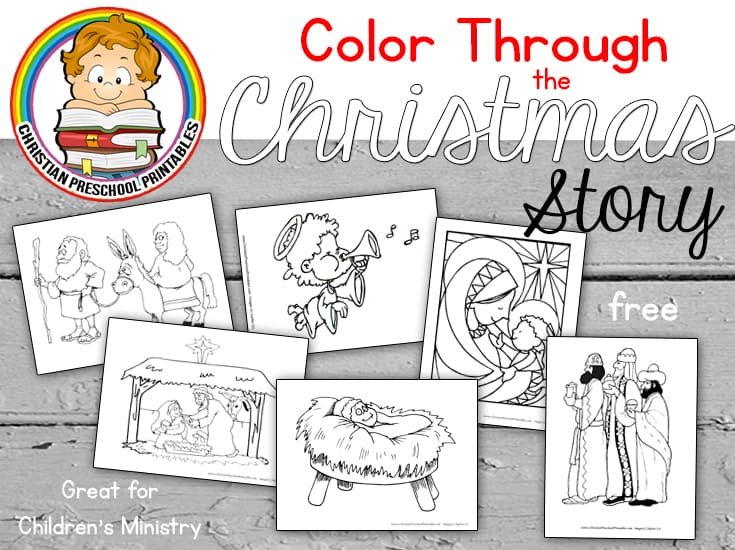 christmas story bible coloring pages