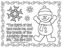 The Spirit Of God Snowman Coloring Page