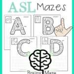 ASL Worksheets & Mazes