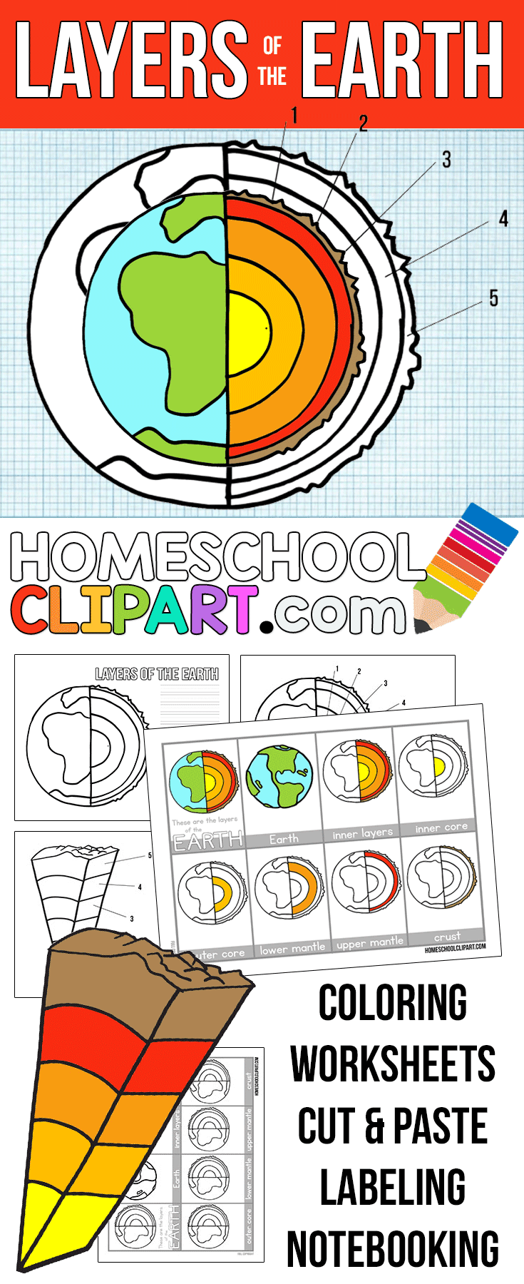 It is an image of Stupendous Earth Layers Worksheet Printable