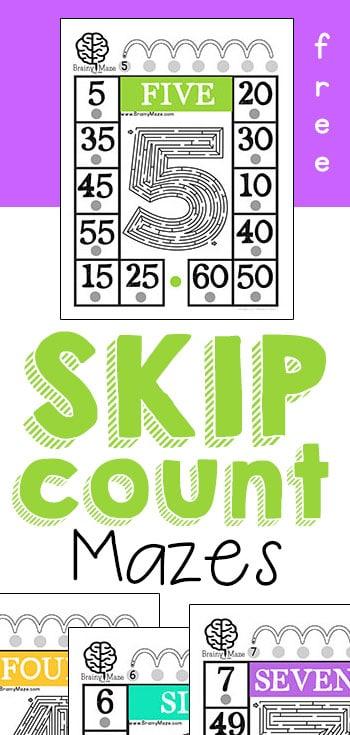 SkipCountMazesPin