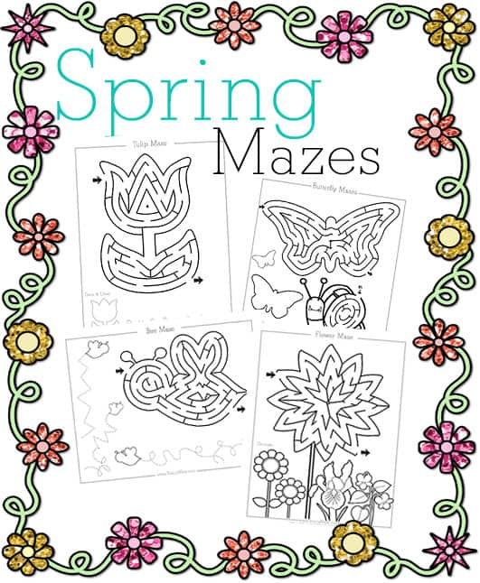 free spring mazes and activity pages. Black Bedroom Furniture Sets. Home Design Ideas