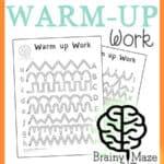 Handwriting Warm Up Work