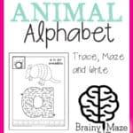Lowercase Alphabet Mazes
