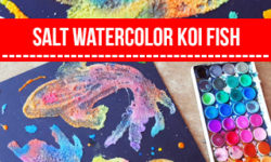 Salt Painting for Summer Art Projects