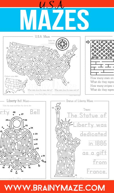 Patriotic Mazes for Kids - The Crafty Classroom