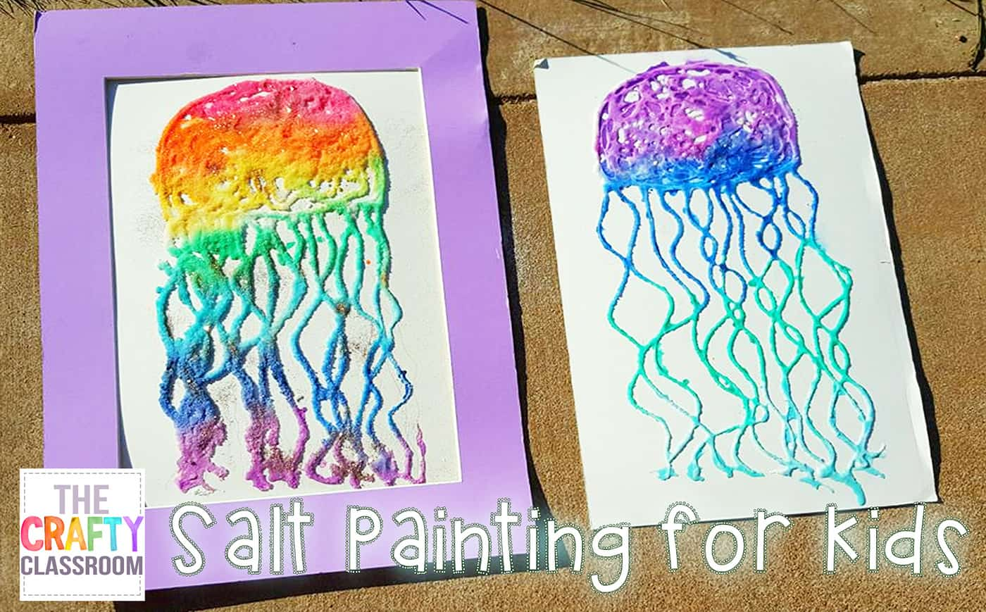 Salt painting for summer art projects the crafty classroom Fun painting ideas for toddlers