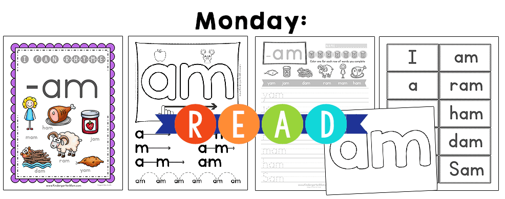 KindergartenReadingCurriculumMonday