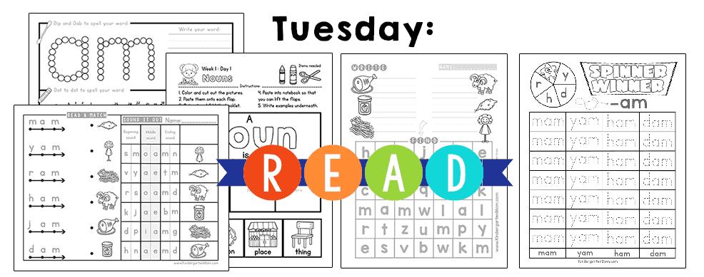 KindergartenReadingCurriculumTuesday