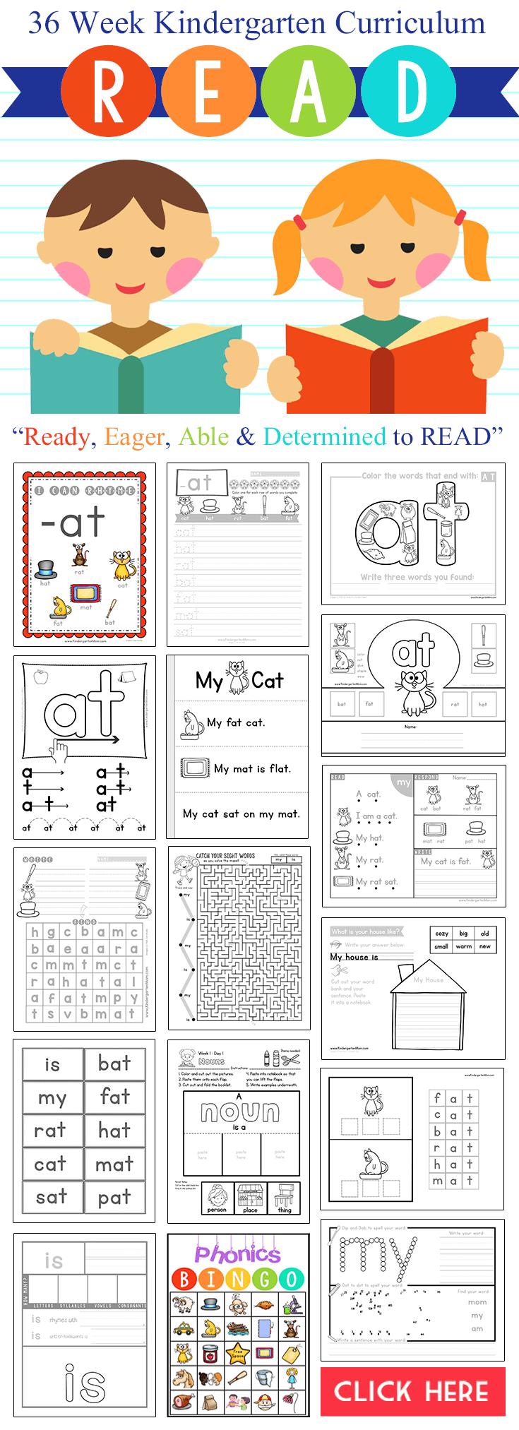 r e a d kindergarten reading curriculum. Black Bedroom Furniture Sets. Home Design Ideas