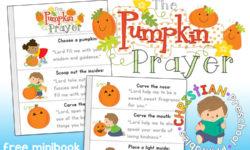 Pumpkin Prayer Printables