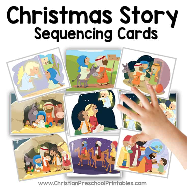christmas story for preschoolers bible verse cards 35821