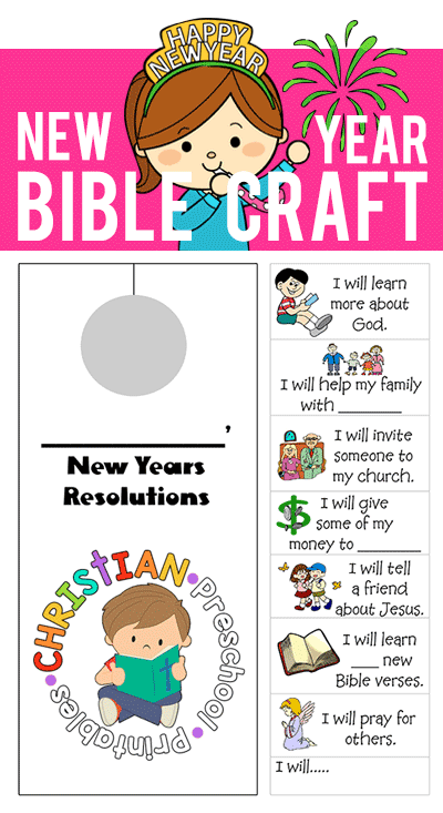 New year 39 s bible craft the crafty classroom for New year s crafts for preschoolers