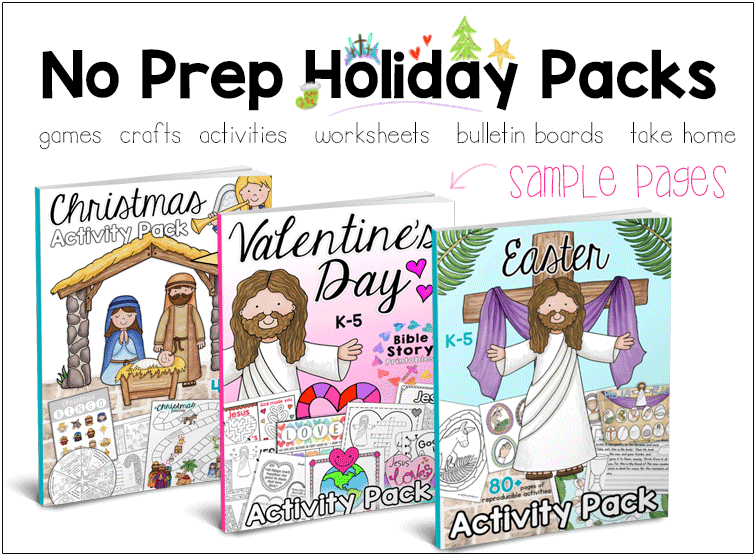 Jesus Loves Me: Valentine's Day Activity Pack - The Crafty