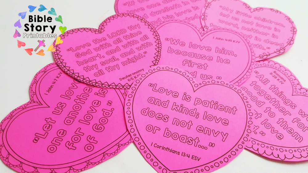 love bible minibook for kids - Bible Verse For Valentines Day