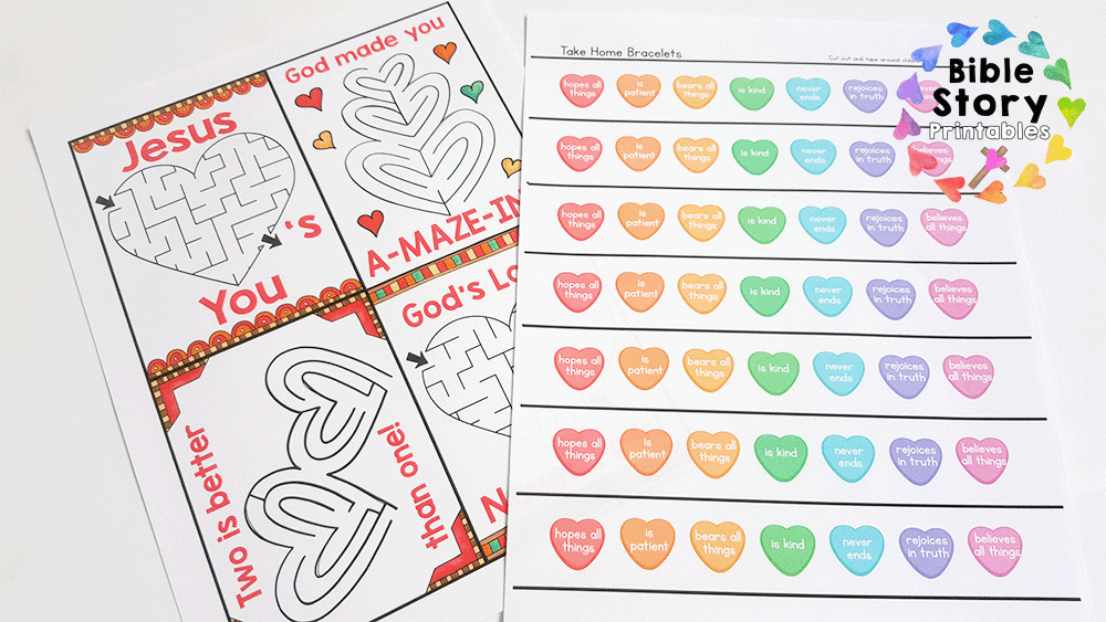 A Fun Game For Children To Play That Focuses On The Qualities Of Love Printable Valentines Day