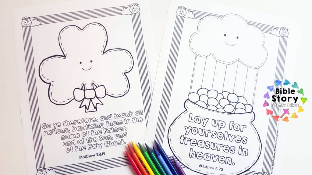 st patrick coloring pages religious - st patrick 39 s day bible activity pack