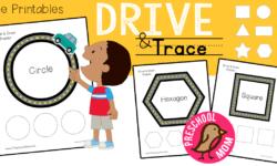 Shape Mats: Drive & Trace Activity Pages