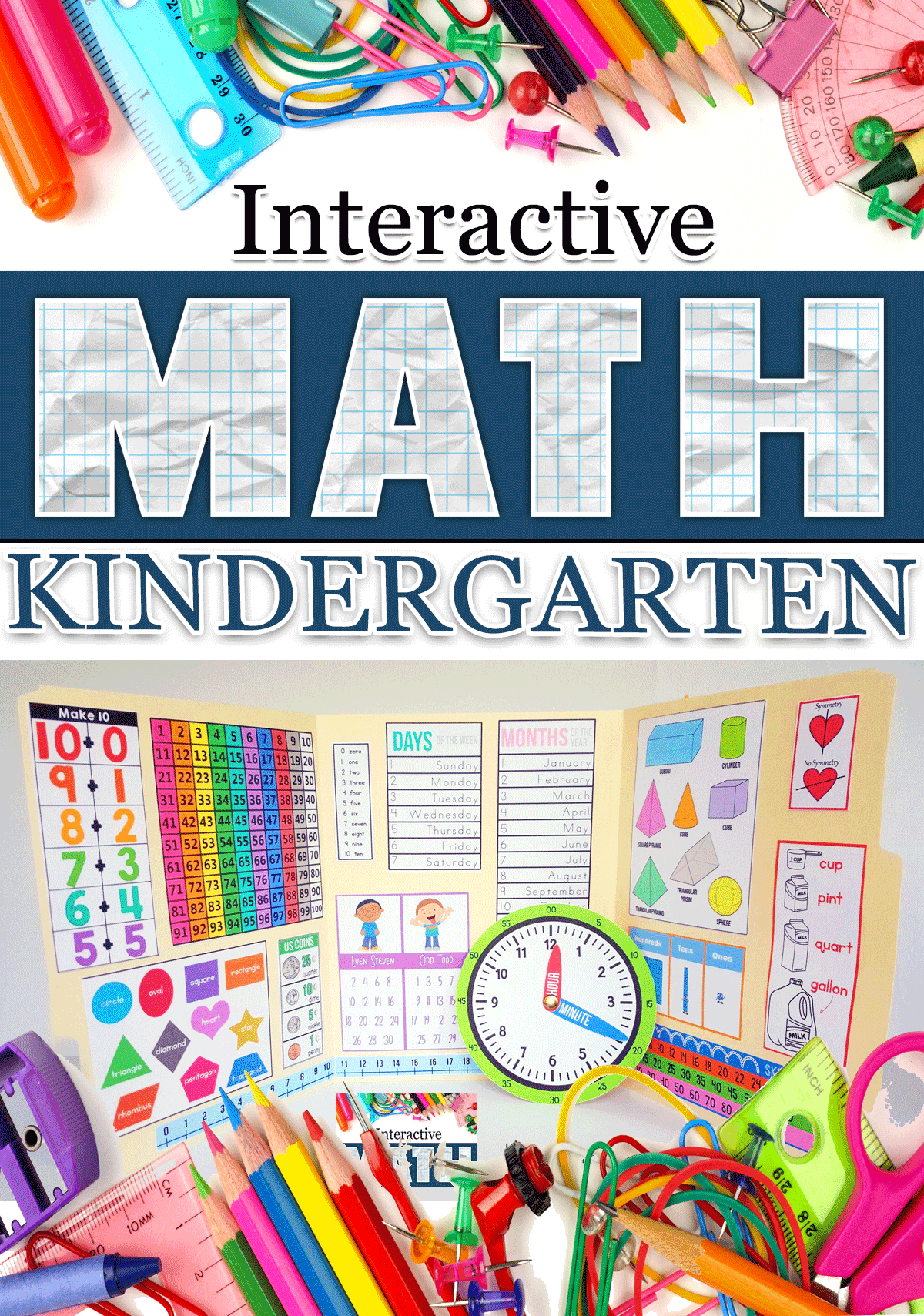 Interactive Math Notebook for Kindergarten - The Crafty Classroom
