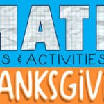 Thanksgiving Math Games for Kindergarten