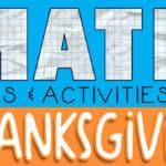 Thanksgiving Math Games for Kindergarten
