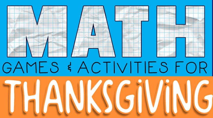 Thanksgiving Math Games for Kindergarten - The Crafty Classroom