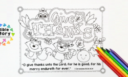 Printable Thanksgiving Placemat with Bible Verse