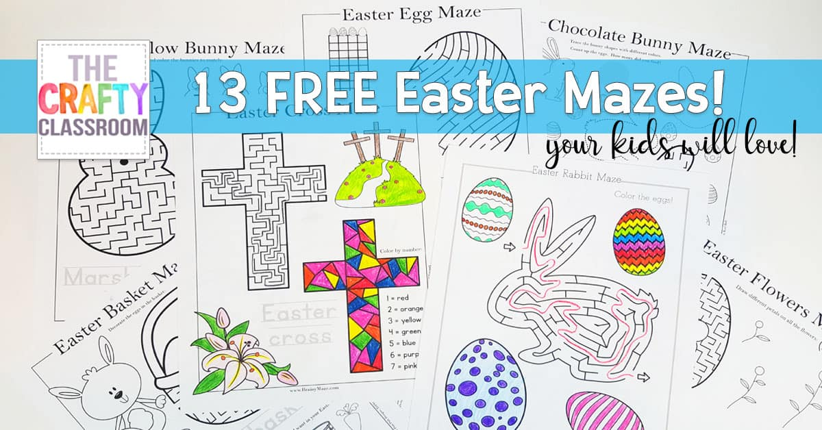 Are Your Kids Looking For Something Fun To Do This Easter Why Not Try These Free Mazes From BrainyMaze