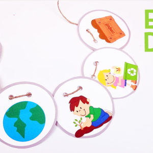Free Earth Day Printables: Necklace Craft for Kids