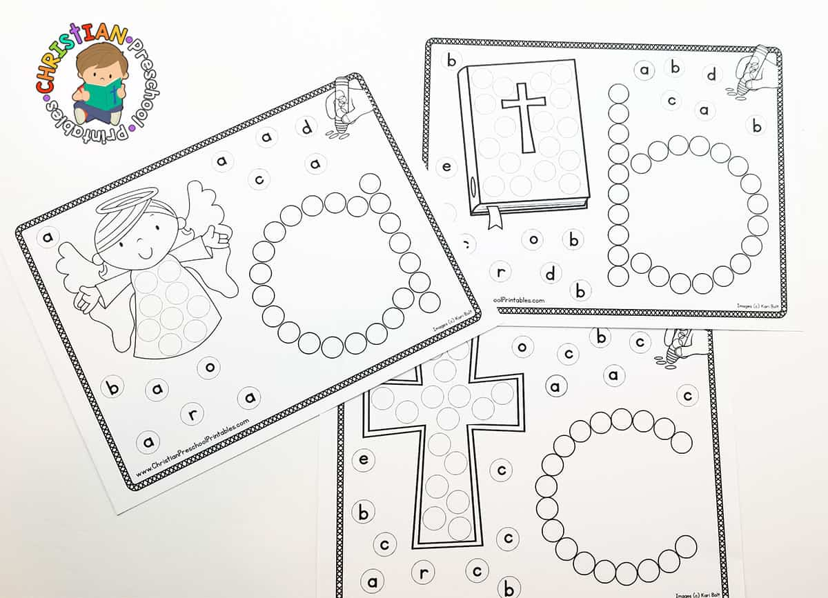 bible abc dab dot worksheets the crafty classroom. Black Bedroom Furniture Sets. Home Design Ideas
