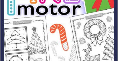 Fine Motor Skills Printables for December