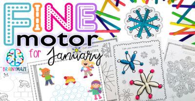 Winter Fine Motor Skills: January Pack