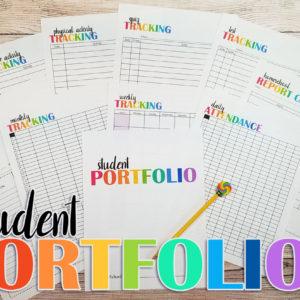 Free Homeschool Portfolio