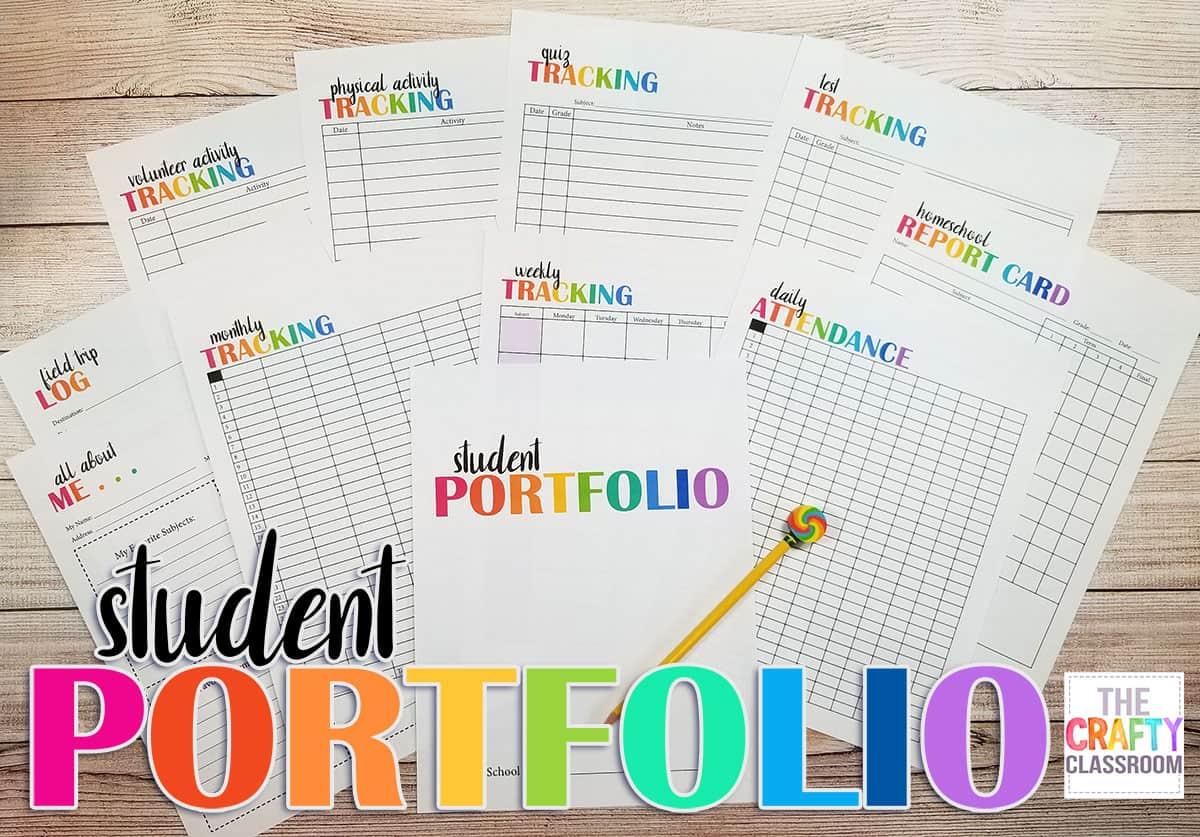 Ambitious image throughout printable portfolio template