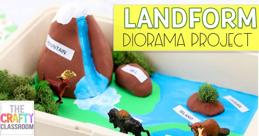 Landform Diorama Craft - The Crafty Classroom