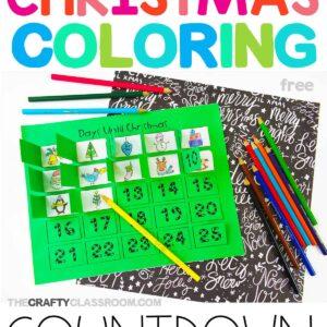 Christmas Coloring Countdown Printable